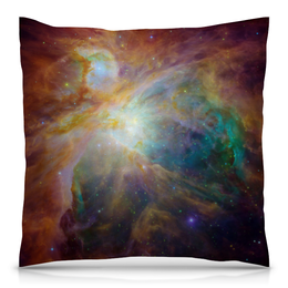 """Подушка 40х40 с полной запечаткой """"Космические краски"""" - звезды, космос, небо, краски, галактика"""
