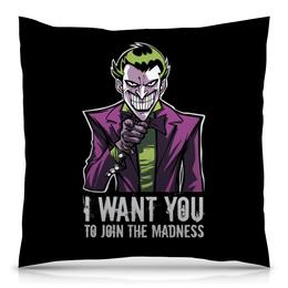 """Подушка 40х40 с полной запечаткой """"Джокер"""" - joker, комиксы, джокер, бэтмен, отряд самоубийц"""