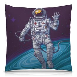 "Подушка 40х40 с полной запечаткой ""Space"" - космос, наука, астрономия, the spaceway"