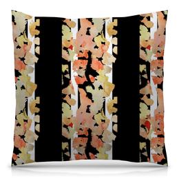 """Подушка 40х40 с полной запечаткой """"Осенний лес"""" - черно-белое, деревья, природа, абстрактный, березы"""
