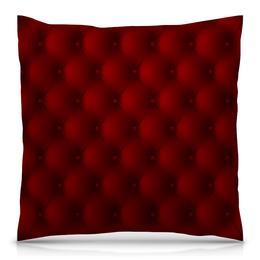 """Подушка 40х40 с полной запечаткой """"Красная"""" - рисунок, стильный, классический, объёмный, узорный"""