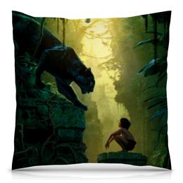 """Подушка 40х40 с полной запечаткой """"Маугли"""" - багира, книга джунглей, jungle book"""