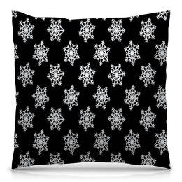 """Подушка 40х40 с полной запечаткой """"Новый год"""" - праздник, новый год, зима, снег, снежинки"""