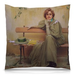 """Подушка 40х40 с полной запечаткой """"Мечты (Витторио Коркос)"""" - картина, философия, меланхолия, живопись, коркос"""