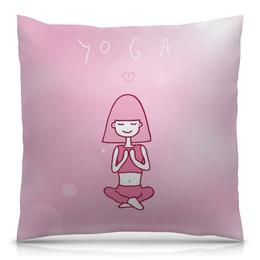 """Подушка 40х40 с полной запечаткой """"Йога и медитация"""" - йога, медитация, yoga, meditation"""
