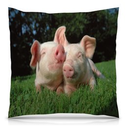 """Подушка 40х40 с полной запечаткой """"Поросята"""" - животные, природа, свинья, поросенок, год кабана"""