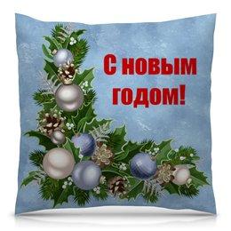 """Подушка 40х40 с полной запечаткой """"Новый год"""" - праздник, новый год, зима, с новым годом, елка"""