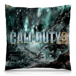 """Подушка 40х40 с полной запечаткой """"Call of Duty"""" - игры, компьютерные игры, надписи, call of duty, зов долга"""