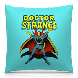 """Подушка 40х40 с полной запечаткой """"Доктор Стрэндж."""" - комиксы, супегерои, доктор стрэндж, doctor strange"""