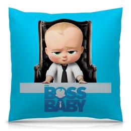"""Подушка 40х40 с полной запечаткой """"Босс-молокосос / The Boss Baby"""" - мультфильм, рисунок, кино, малыш, босс"""