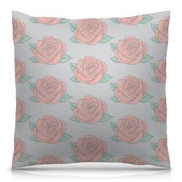 """Подушка 40х40 с полной запечаткой """"Узор роз"""" - цветы, природа, весна, узор, розы"""