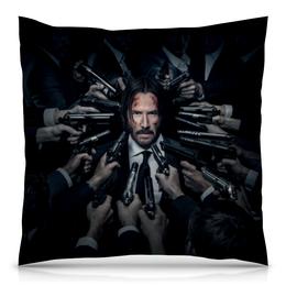 "Подушка 40х40 с полной запечаткой ""Джон Уик"" - актер, боевик, убийца, киану ривз, john wick"
