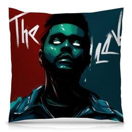 "Подушка 40х40 с полной запечаткой ""The Weeknd neon"" - music, rap, star, theweeknd, digitalart"