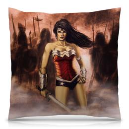 "Подушка 40х40 с полной запечаткой ""Чудо-Женщина (Wonder Woman)"" - чудо-женщина"