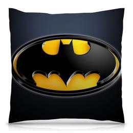 "Подушка 40х40 с полной запечаткой ""Бэтмен (англ. Batman)"" - комиксы, фильмы, бэтмен, dc комиксы"