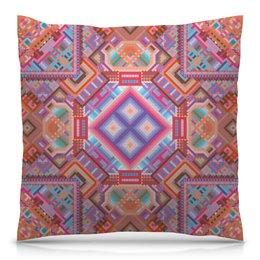 """Подушка 40х40 с полной запечаткой """" с абстрактным рисунком"""" - узор, фиолетовый, абстракция, фигуры, текстура"""