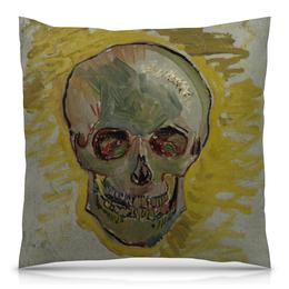 "Подушка 40х40 с полной запечаткой ""Череп II (Винсент ван Гог)"" - картина, ван гог, живопись"
