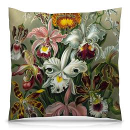 """Подушка 40х40 с полной запечаткой """"Орхидеи (Orchideae, Ernst Haeckel)"""" - эрнст геккель"""