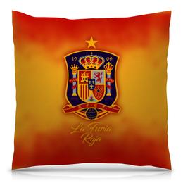 """Подушка 40х40 с полной запечаткой """"Сборная Испании"""" - футбол, испания, сборная испании, сборная испании по футболу, команда испании"""