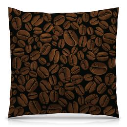 """Подушка 40х40 с полной запечаткой """"Кофейная"""" - арт, стиль, рисунок, кофе, зерно"""