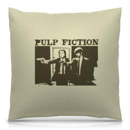 """Подушка 40х40 с полной запечаткой """"Pulp Fiction"""" - кино, фильм, тарантино, криминальное чтиво, pulp fiction"""