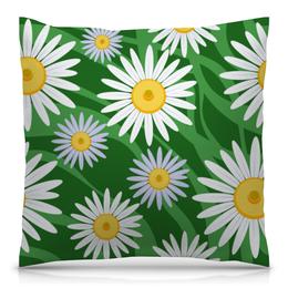 """Подушка 40х40 с полной запечаткой """"Ромашки"""" - цветы, весна, зеленый, природа, ромашки"""