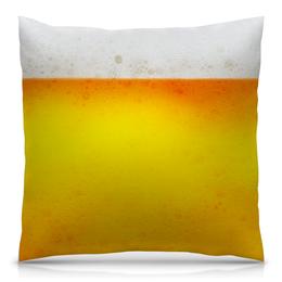 """Подушка 40х40 с полной запечаткой """"Пиво всегда!"""" - праздник, алкоголь, друзья, вечеринка, друг"""