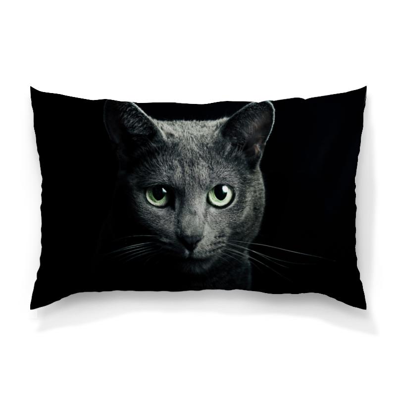 Подушка 60х40 с полной запечаткой Printio Серый кот