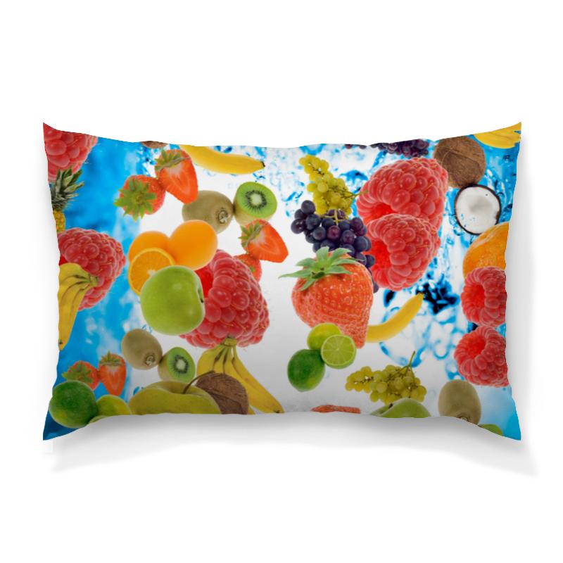 Подушка 60х40 с полной запечаткой Printio Фруктовый коктейль colorful подушка подушка сиденья может быть фруктовый порошок дефолт