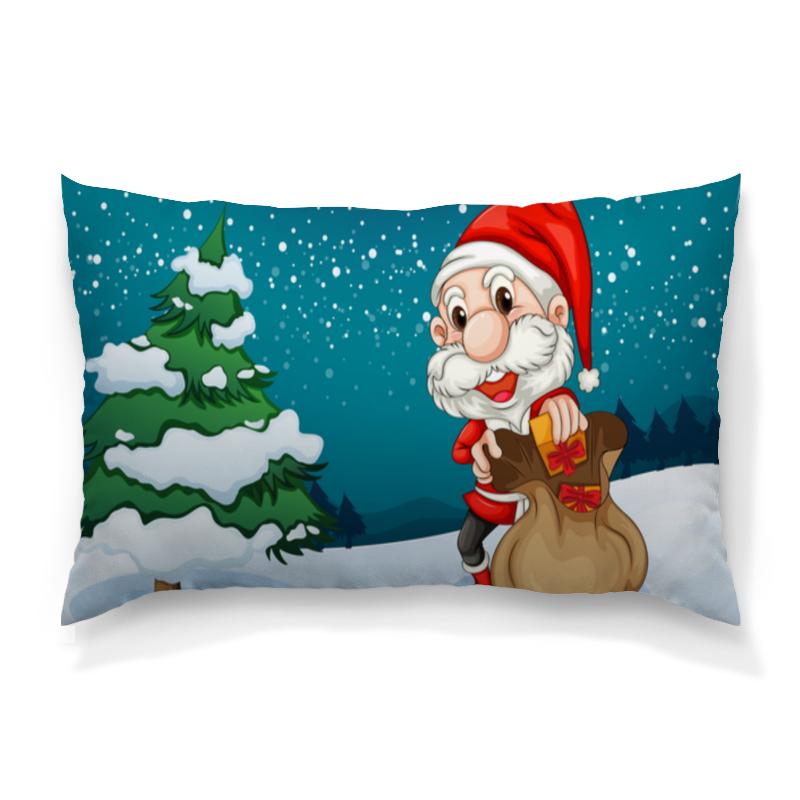 Подушка 60х40 с полной запечаткой Printio Дед мороз