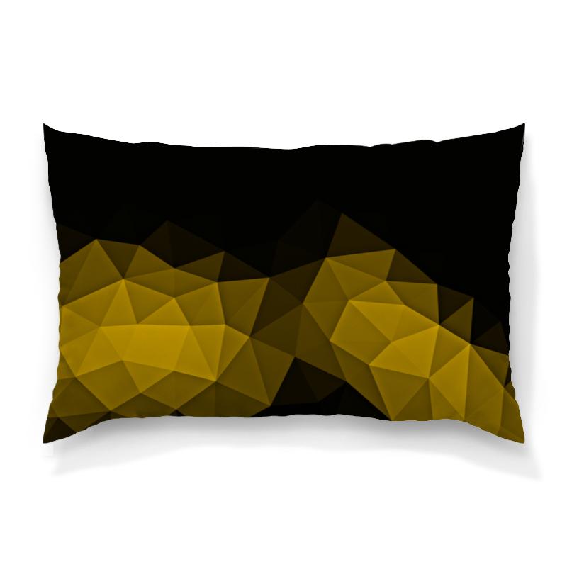 Подушка 60х40 с полной запечаткой Printio Черно-желтый