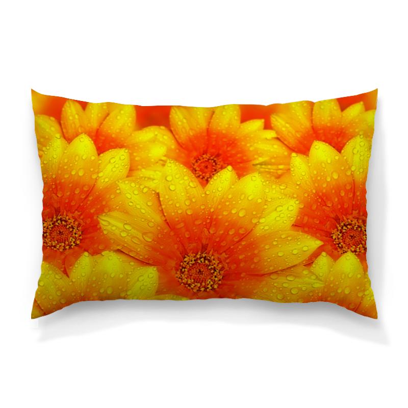 Подушка 60х40 с полной запечаткой Printio Желтые цветы рюкзак с полной запечаткой printio желтые цветы