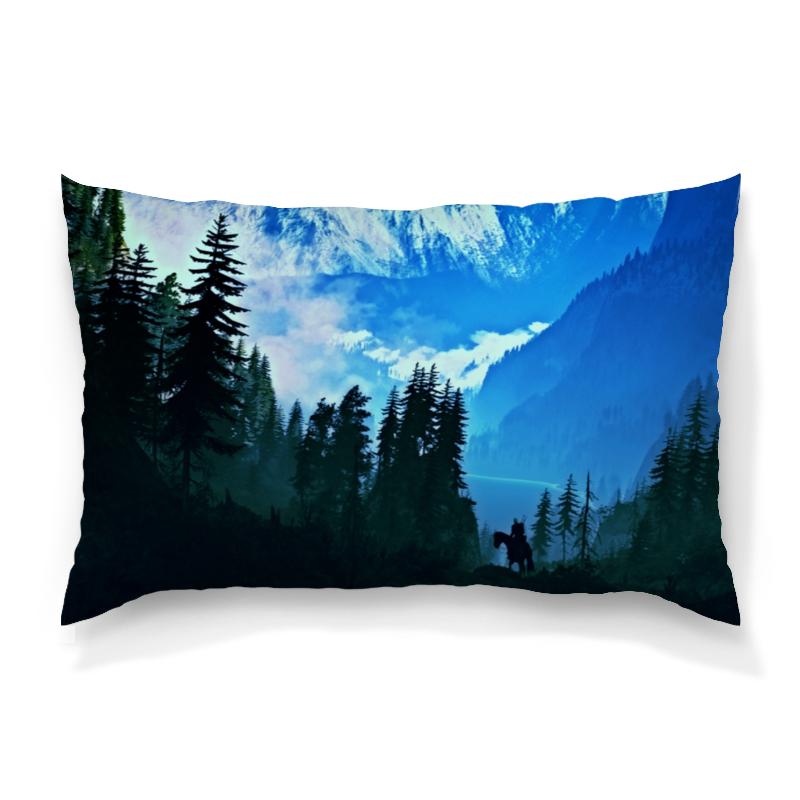 Подушка 60х40 с полной запечаткой Printio Елки в горах толстовка с полной запечаткой printio елки в горах