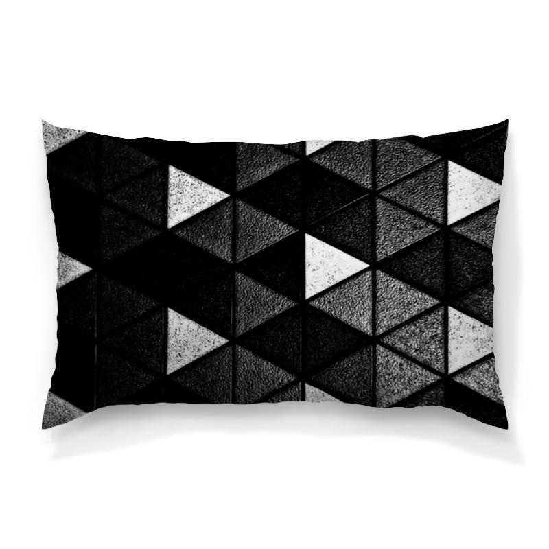 Подушка 60х40 с полной запечаткой Printio Черно-белые фигуры подушка 60х40 с полной запечаткой printio черно белые краски
