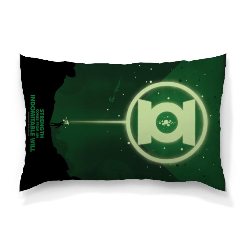 Подушка 60х40 с полной запечаткой Printio Green lantern/зеленый фонарь цена и фото
