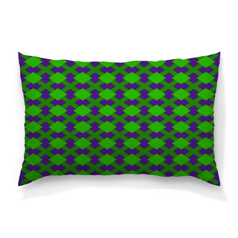 Printio Зеленая графика подушка 60х40 с полной запечаткой printio зеленая клетка