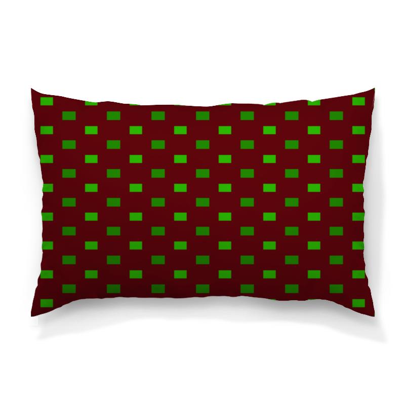 Подушка 60х40 с полной запечаткой Printio Зеленые квадраты подушка 60х40 с полной запечаткой printio зеленые стекла
