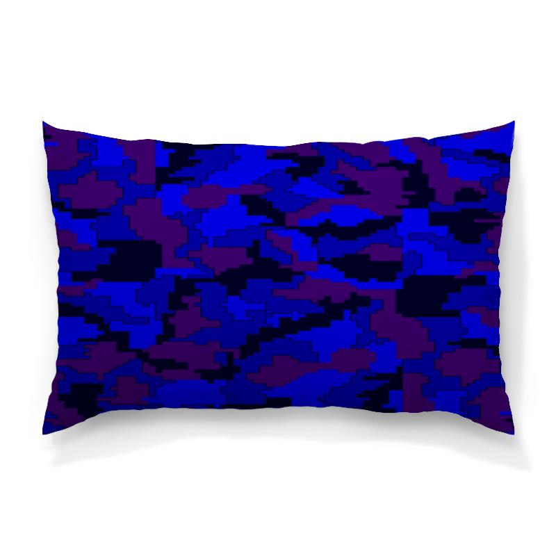 Подушка 60х40 с полной запечаткой Printio Синий камуфляж цена и фото