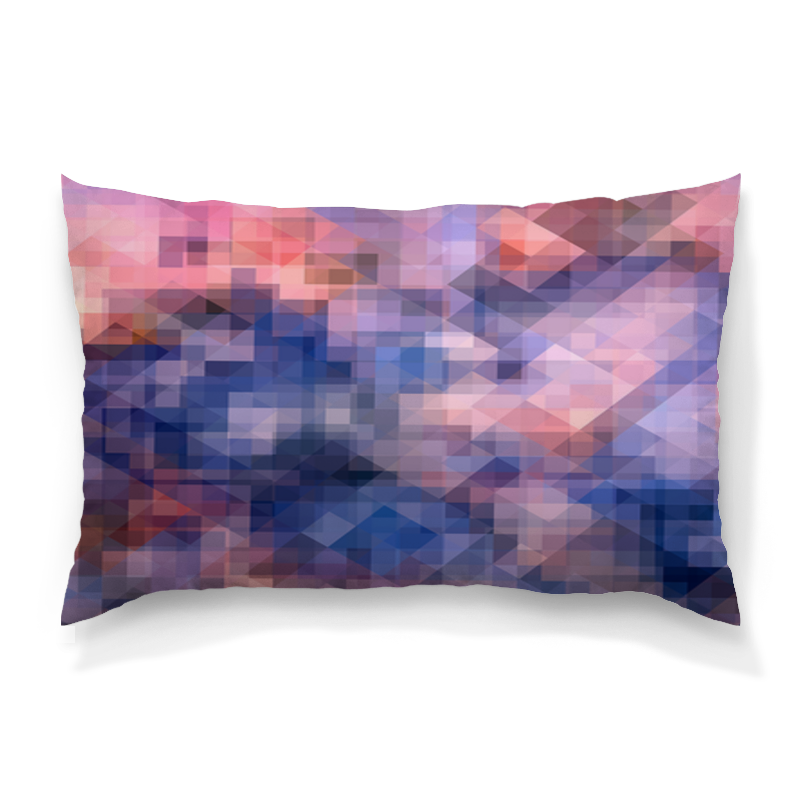 Подушка 60х40 с полной запечаткой Printio Пиксель-арт. сине-розовый паттерн подушка 60х40 с полной запечаткой printio розовый фламинго
