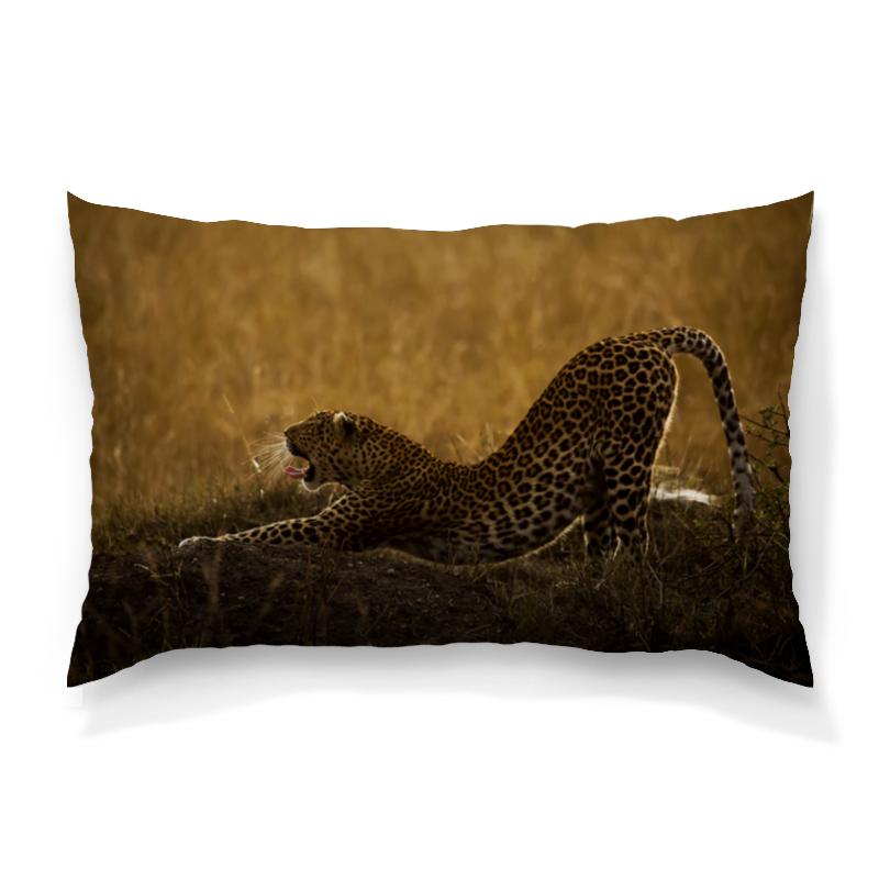Подушка 60х40 с полной запечаткой Printio Леопард изнер к леопард из батиньоля