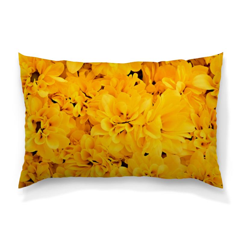 где купить Подушка 60х40 с полной запечаткой Printio Желтые цветы по лучшей цене