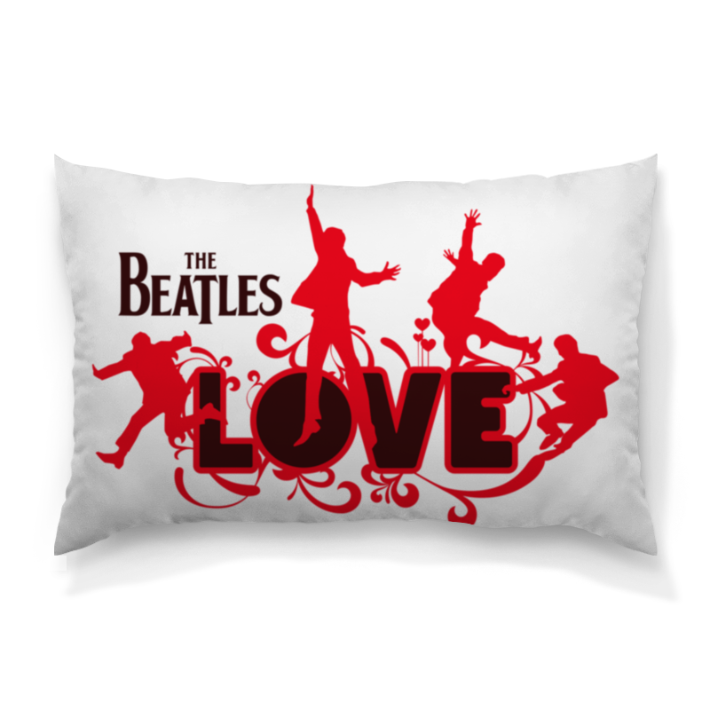 Подушка 60х40 с полной запечаткой Printio Beatles цена и фото