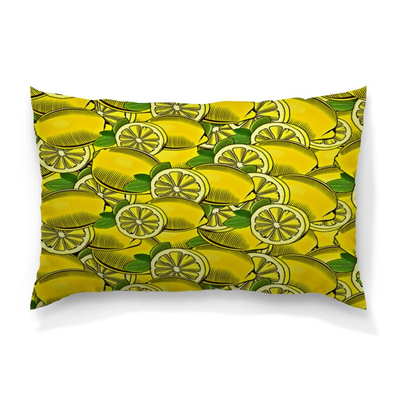 Подушка 60х40 с полной запечаткой Printio Лимон подушка с фотопечатью сочный интерьер вариант лимон