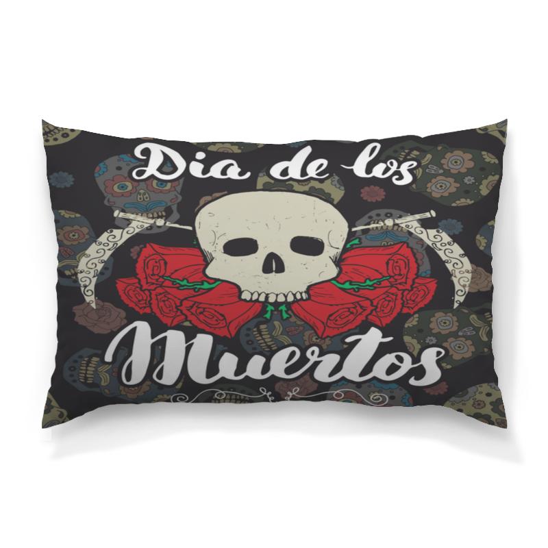 Подушка 60х40 с полной запечаткой Printio Día de muertos festival bue día 2 gorillaz