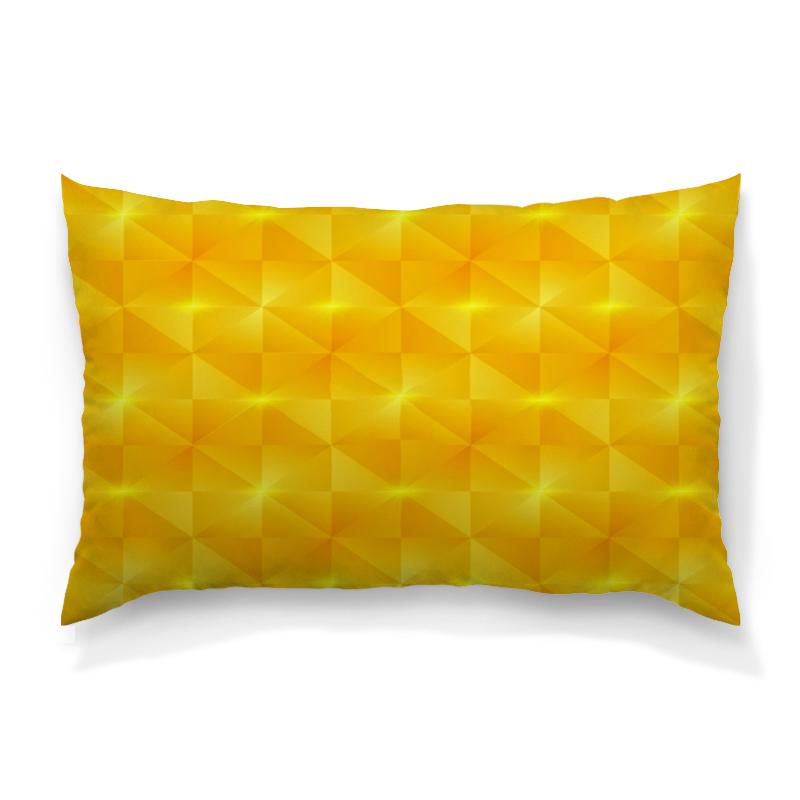 Подушка 60х40 с полной запечаткой Printio Желтые квадраты цена