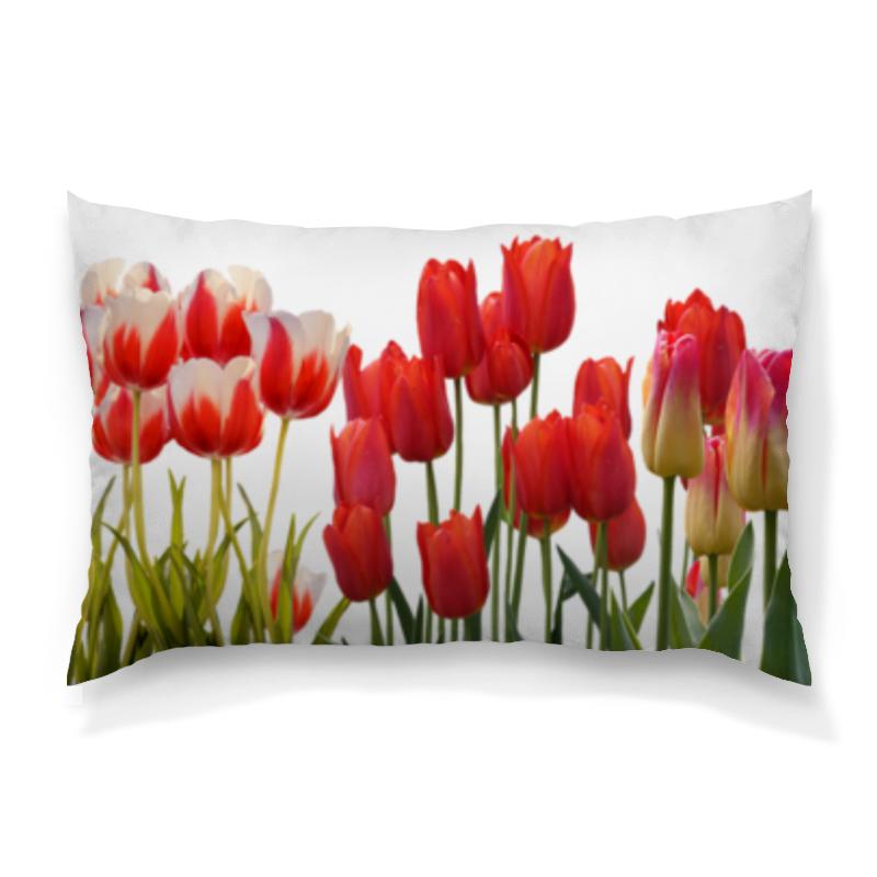 Подушка 60х40 с полной запечаткой Printio Весенние тюльпаны подушка 60х40 с полной запечаткой printio весенние цветки