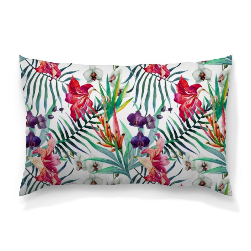 Подушка 60х40 с полной запечаткой Printio Тропические цветы