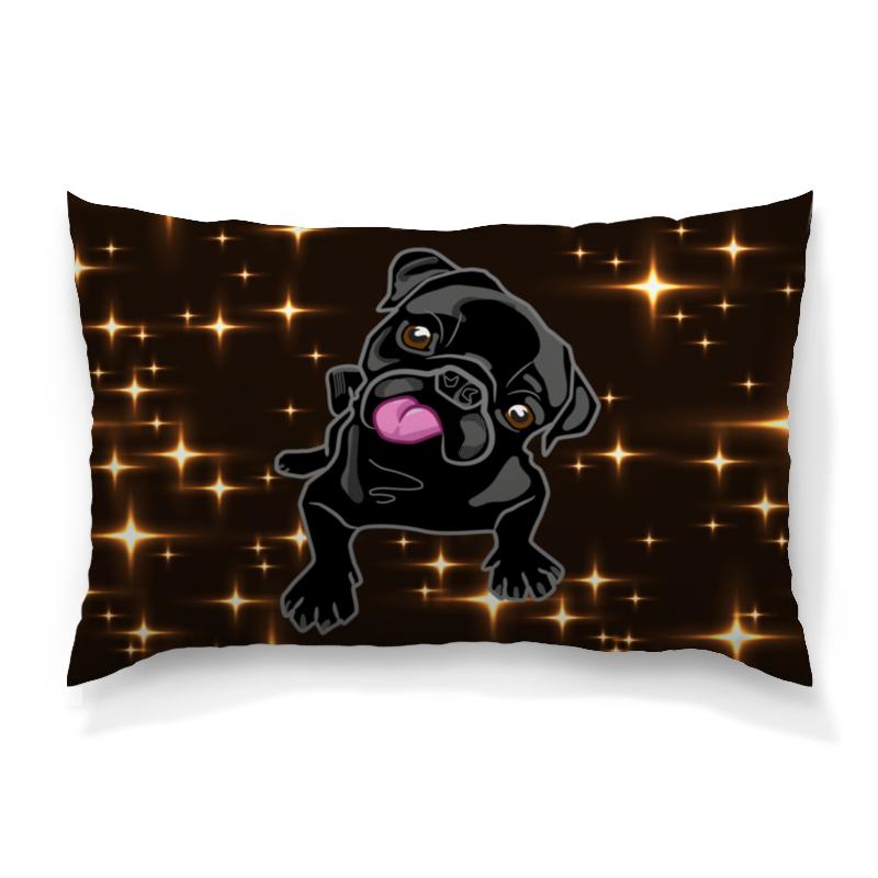 Подушка 60х40 с полной запечаткой Printio Черный пес
