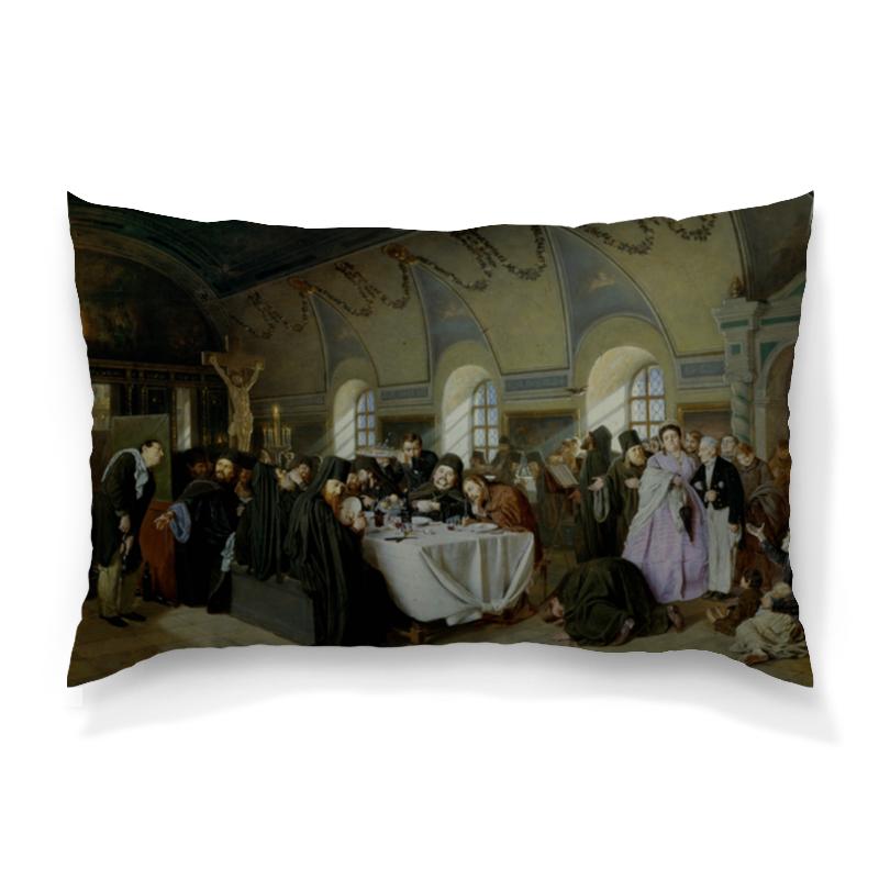 Подушка 60х40 с полной запечаткой Printio Трапеза (василий перов) милюгина е товарищество передвижных художественных выставок