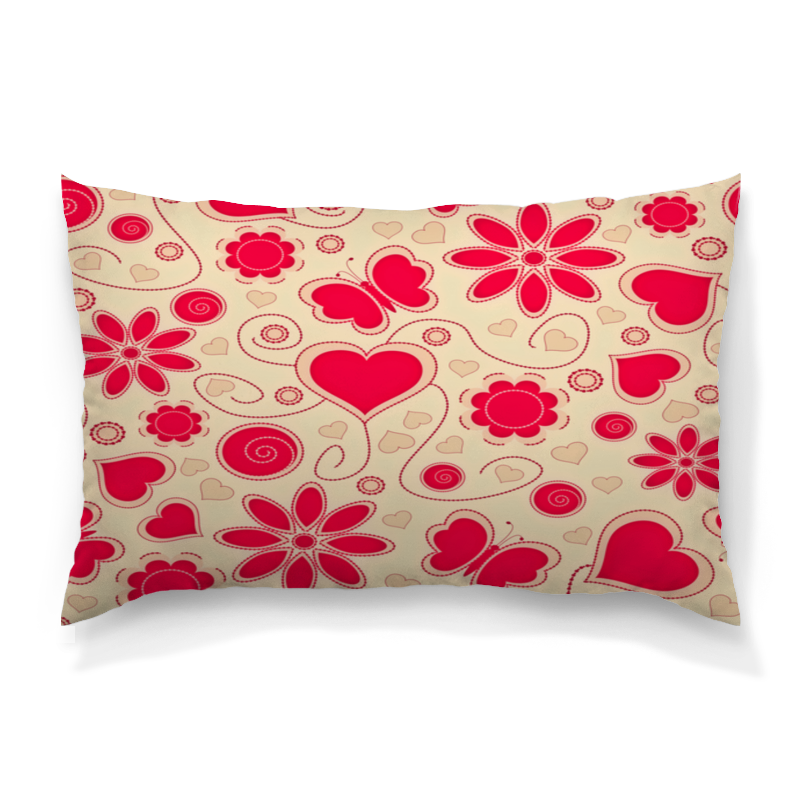 Подушка 60х40 с полной запечаткой Printio Бабочки и цветы цены онлайн